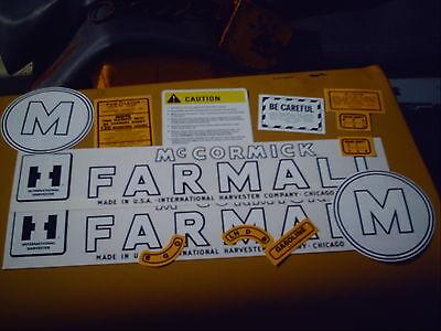 Farmall M Decal Set 1945-1952 Ih Mccormick Farmall