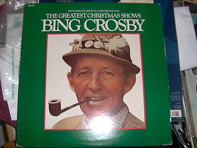 LP THE GREATEST CHRISTMAS SHOW BING CROSBY RADIO BROADCAST 12/14/1949 RARE EX ()