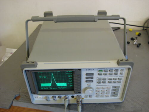 Hp Agilent 8563a Spectrum Analyzer 9 Khz To 26.9 Ghz Calibrated 3.5mm Sma Opt 26