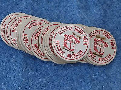 Sarepta Home Farm Republic Michigan Milk Bottle Cap Lot Of 29 Caps B9462