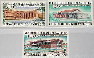 CAMEROUN KAMERUN 1969 578-80 U C122-24 Douala Post Office Buildings Gebäude MNH