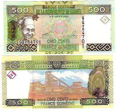 Guinee GUINEA Bilet 500 Francs GUINEES 2006 P39  FEMME  NEUF UNC