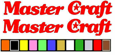 Master Craft  classic  BOAT STICKER DECAL  ANY SIZE OR COLOR AVAILABLE