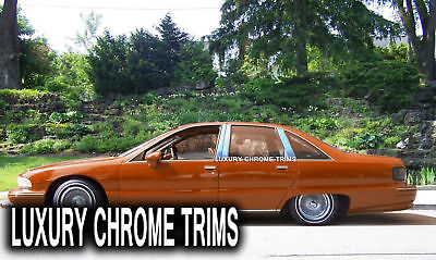 Chevy Caprice Stainless Steel Chrome Pillar Posts by Luxury Trims 1991-1996 8pcs