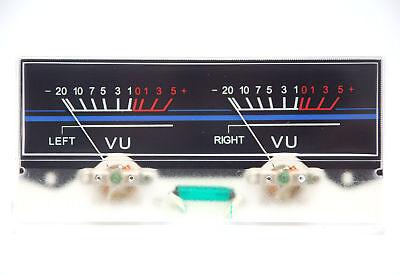 1pc Sd-318b Dual Panel Vu Meter 500ua 630 115x54mm 12v Green Bulb Sd Flashstar