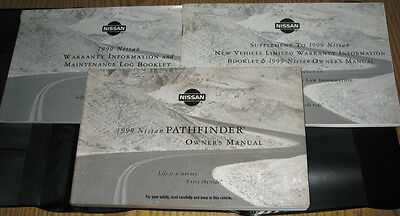 Nissan Pathfinder Owners Manual (1999 NISSAN PATHFINDER OWNERS MANUAL SET 99 w/case )