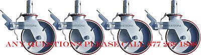 Cbm 8 Heavy Duty Scaffolding Non Marking Polyurethane Swivle Caster Wheels