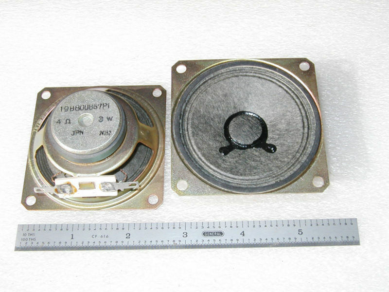 "MINIATURE 2.6"" SQUARE SPEAKER 4 OHM - 1 pc"