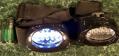 Two 5 LED HEAD BAND / HARD HAT LIGHT New headlamp flash bright - Head Band Light