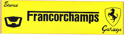 Ferrari - Ecurie Garage Francorchamps - period 1960s/70s sticker - NEW OLD STOCK
