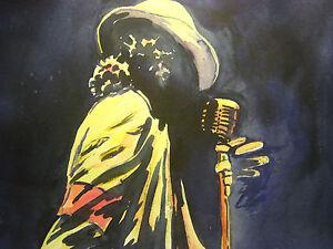 Orig. Painting Michael Jackson King of Pop Billie Jean Thriller Music Song Star