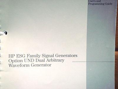 Hp Esg Family Signal Generators Option Und Dual Arbitrary Waveform Generator Gde