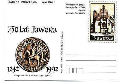GA Ganzsache Polen Polska 750 Lat Jahre Jawora 1242 - 1992 GA343