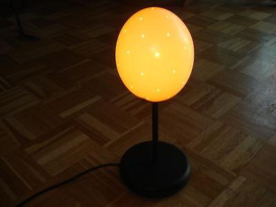 Straußeneilampe komplett mit  Ständer  Straußenei  Lampe Lochbohrung  frei Haus