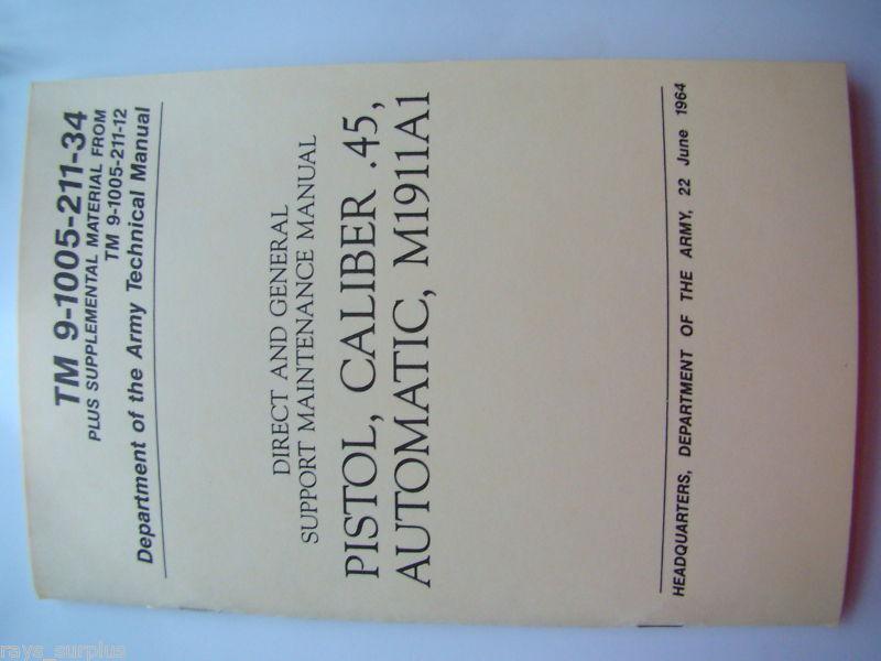 Colt 1911 Gunsmith  Maintenance And Repair  Manual Book