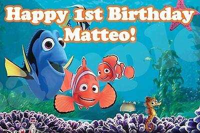 Custom Finding Nemo Party Banner Finding Nemo Vinyl Birthday Banner (Finding Nemo Party Decorations)