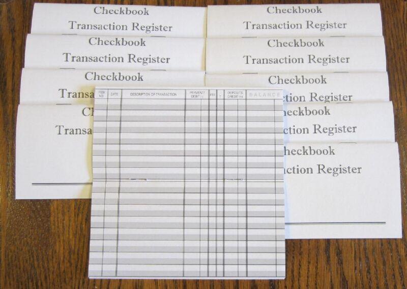 10 NEW CHECKBOOK TRANSACTION REGISTER --CHECK BOOK RECORD REGISTERS
