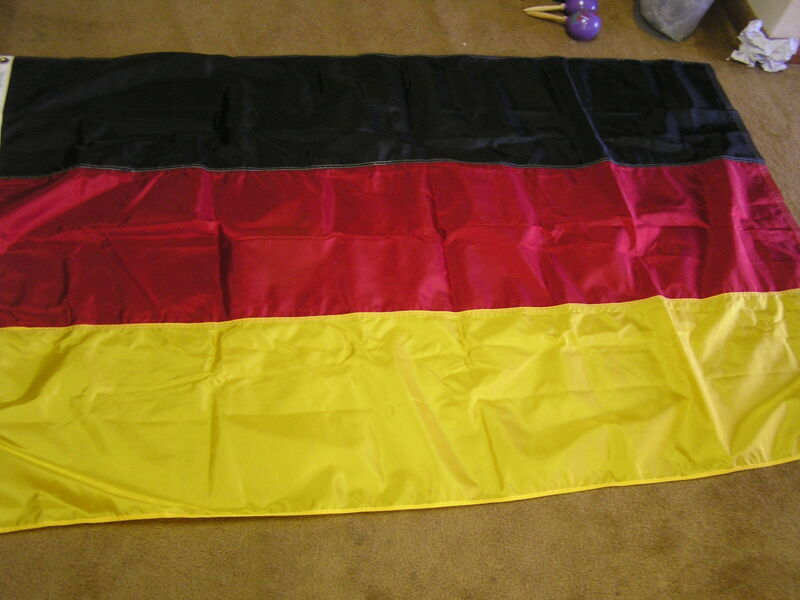 "Nylon Flag of WEST GERMANY  Flag/Banner 36""  X  72""             FREE POSTAGE USA"