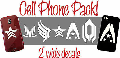 Mass Effect Decal/Sticker pack for Cell Phones, iPods & More!