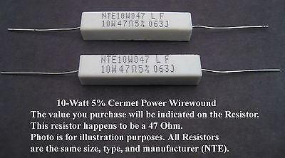 .68-ohm 10w 5 Power Resistors Mfg. Nte 2pack Great Price For Small Qty