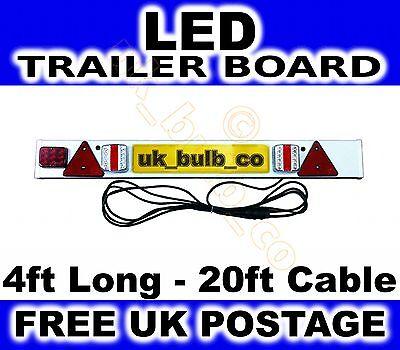 Luz de Remolque Placa LED Incluye Antiniebla 1.2m Portabicicletas 4 FT &...