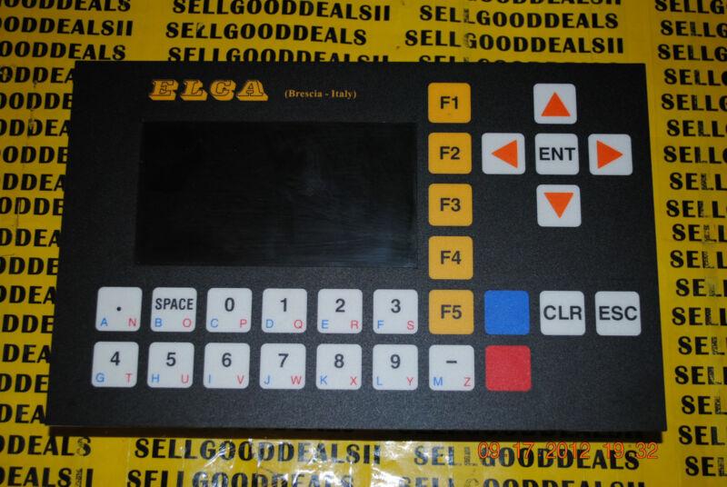 ELCA (Brescia - Italy) E-1020 Operator Interface Panel E1020