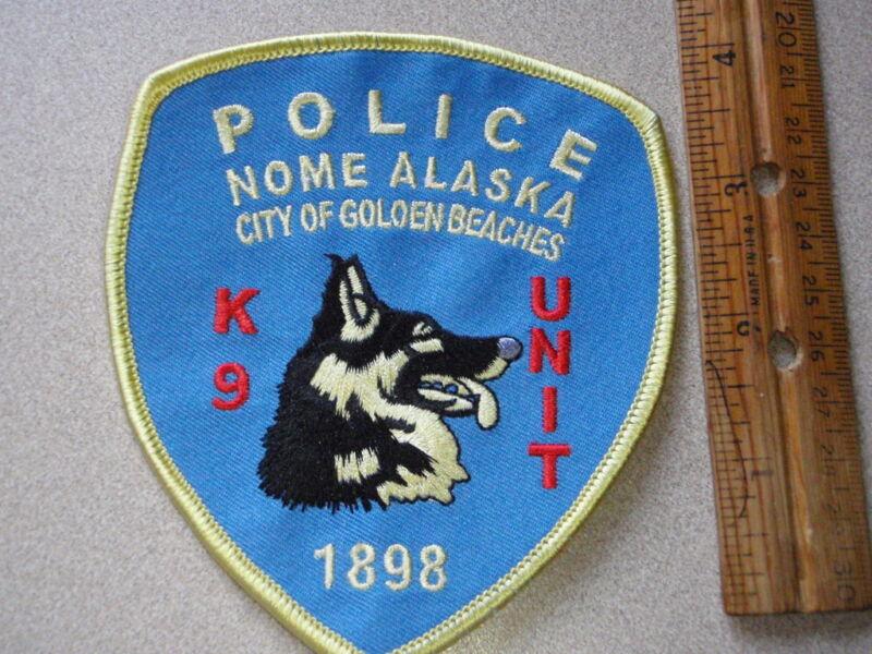 POLICE K-9  NOME ALASKA K-9 UNIT OBSOLETE SHOULDER PATCH obsolete