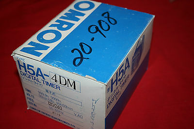 New Omron H5a-4dm Digital Timer - 120240 Vac - Bnib
