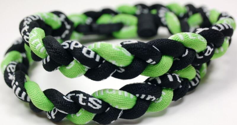 20 Pack Titanium Necklace Black Lime Neon Green Tornado