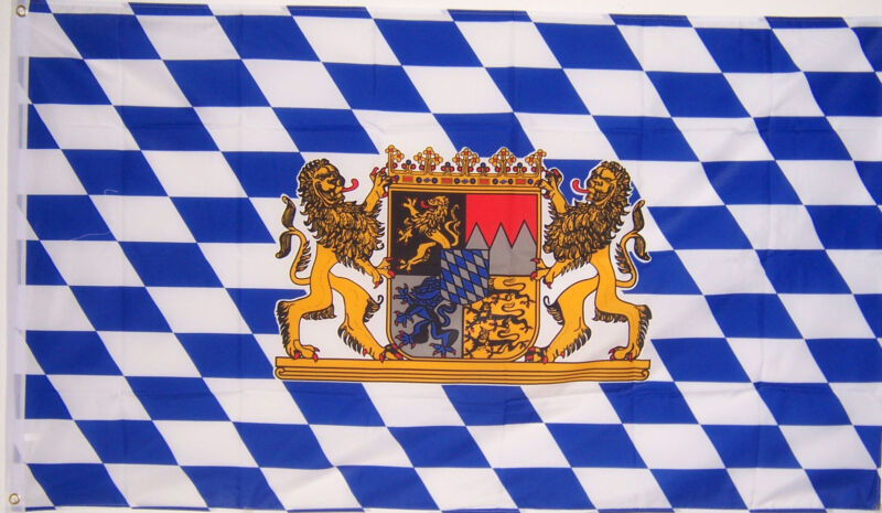 NEW 3x5ft BAVARIA LION OKTOBERFEST BAVARIAN GERMAN BEER FLAG better quality us