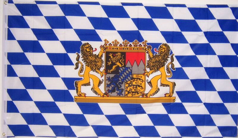 NEW 2x3 ft BAVARIA LION OKTOBERFEST BAVARIAN GERMAN BEER FLAG better quality