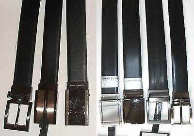 NEW GEOFFREY BEENE men's black/brown leather reversible belt,32,34,36,38,40,42,4 (Geoffrey Beene Reversible Belt)
