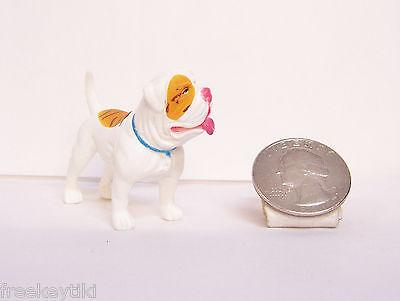 "Rare Hood Hounds White American Bull Dog Bulldog 1.5"" Diorama Figure Figurine"