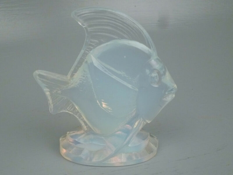 Sabino Opalescent Art Glass Deco Fish Figurine #2 - French Crystal Poissons GL
