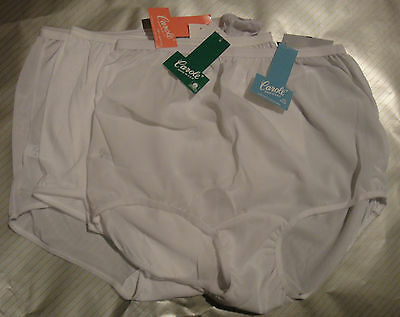 Womens CAROLE panties, briefs COTTON or  NYLON fabrics 6 7 8 9 10 NWT (Womens Nylon Briefs)