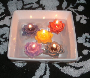 24 floating flower candles (you pick scent & colors) 2 (dozen)