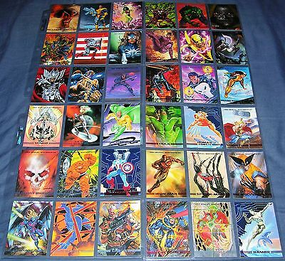 1993 Marvel Masterpieces 90 Card Master Set with the 8 Card Spectra Chase Set