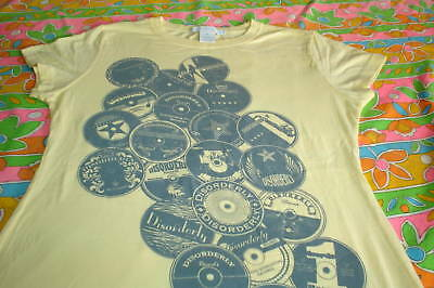 ROCK N ROLL RECORD LABEL LADIES T SHIRT LIMITED VINYL
