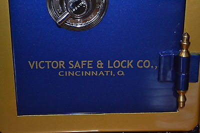 """Victor"" Safe And Lock Co Lettering, Decal, Emblem or Sticker"