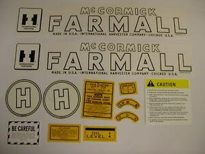 IH/ International  / McCormick / Farmall Model H Tractor Decal Set FREE SHIPPING