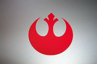 REBEL Alliance Vinyl Decal Sticker Star Wars RED, WHITE,SILVER, 1/2