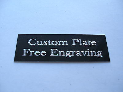 Engraved Plate Trophy Taxidermy 1 12x 6 Black Aluminum