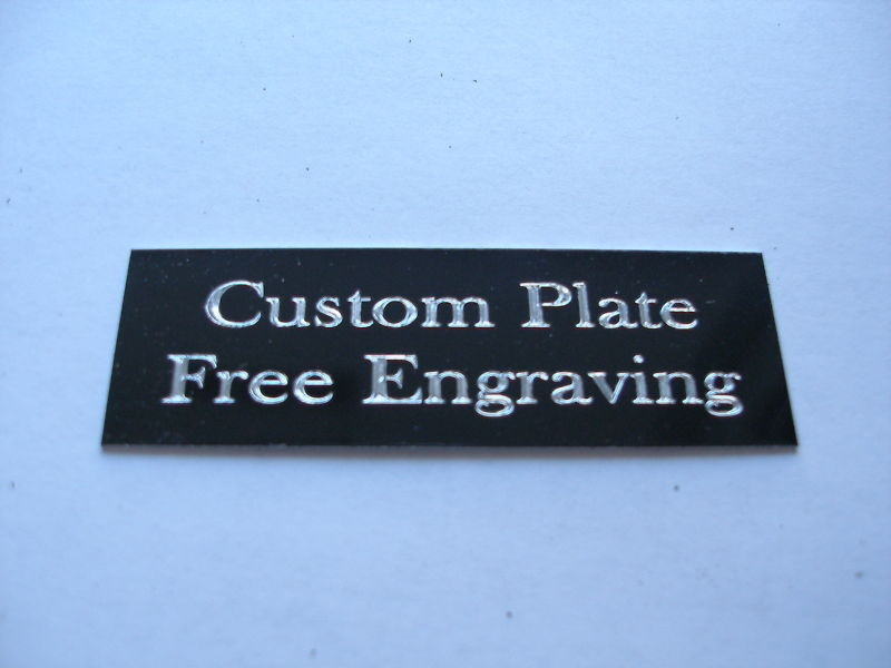 """Engraved Plate trophy Taxidermy 1""""x 3"""" black aluminum"""