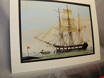 1841 Charles W Morgan  Sailing Ship  Model Ship Box Top Art Color by artist