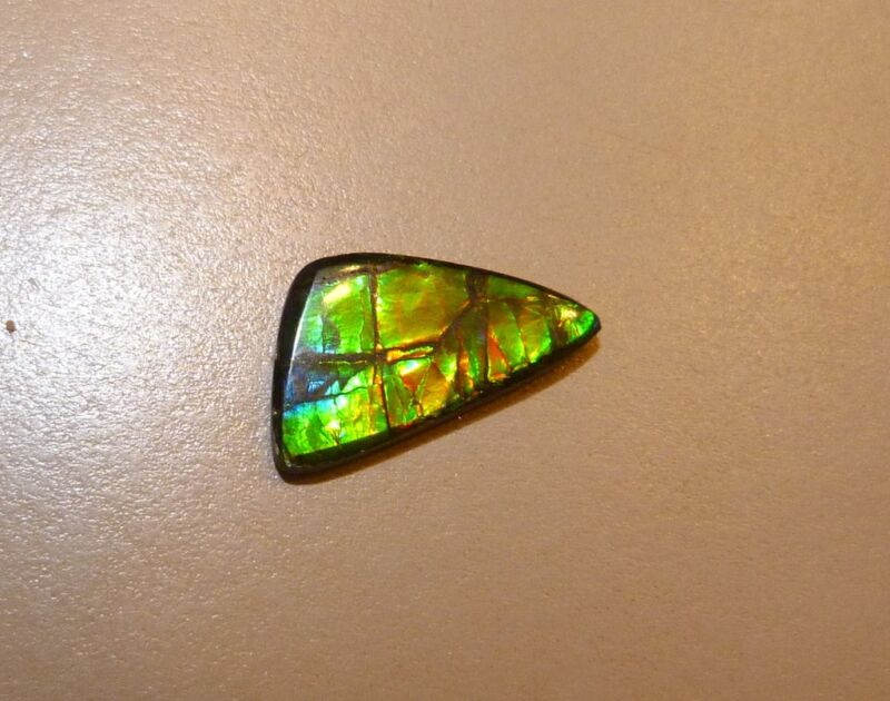 AWESOME 10.00 CTW GENUINE CANADIAN AMMOLITE DOUBLET LOOSE STONE