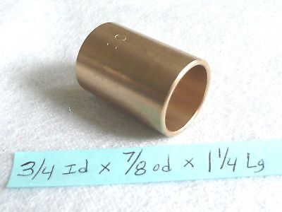 Bronze Bushing Bearing New 34 Id X 78 Od X 1 14 Brass Bearing Bush Sleeve B32