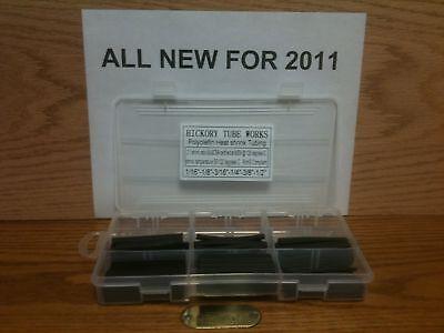 Black Heat Shrink Tubing Kit 21 Ratio 6 Sizes 116