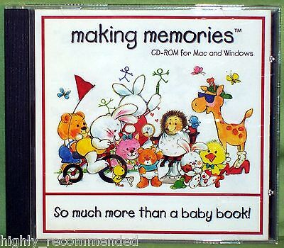 Making Memories: So Much More Than A Baby Book (PC, 1997 Nursery Needs) - More Baby Games