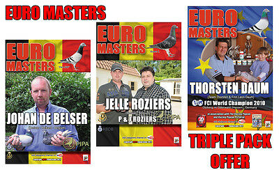 EURO MASTERS TRIPLE PACK RACING PIGEON DVDs