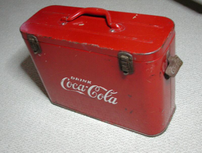 Coca-Cola Cavalier - Airline Cooler - Nice Original Condition - Embossed Letters